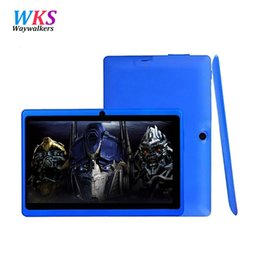 Wholesale android mid - Wholesale- Allwinner A33 Quad Core 7 inch Tablet Q88 WIFI Bluetooth MID Dual Cameras Android 4.4 OS 512MB 8GB Cheapest Quad Core Run Fast