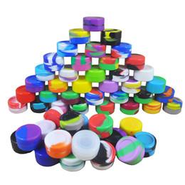 DHL / UPS 5 ml Tarro de silicona antiadherente Dab Wax Contenedores de 5 ml Colores no sólidos Tarros de silicona Caja de concentrado Dabs Contenedores de almacenamiento de silicona desde fabricantes