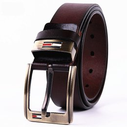 Wholesale Mens Designer Vintage - mens cow genuine leather man belt luxury strap male belts for men new fashion vintage pin buckle Designer belt