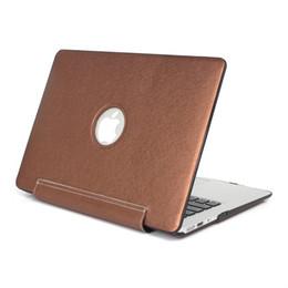 capas de laptop de 15 polegadas Desconto Caso de plástico pele de couro pu capa protetora shell para macbook air pro 11 12 13 15 polegadas casos difíceis frente traseira integrada