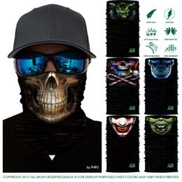 Wholesale hunting balaclava - 3D Cycling Seamless scarf Balaclava Marvel Outdoors Face Mask Magic Bandana Hunting Bandana Scarves M0627