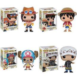 Wholesale One Piece Action Figure Pop - Funko POP One Piece Luffy Chopper Ace action Figures Lovely Mini Collections Model Toys Gifts For Kids With Nice Package #F