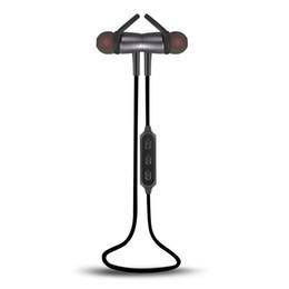 Sweatproof Bluetooth metal Earphone 4.1 Magnetic Design Stereo Bass Cuffie sportive wireless con microfono Riduzione del rumore per telefono cellulare da