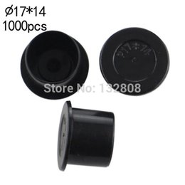 Wholesale Tattoo Supplies Ink Cups - Wholesale-17MM tattoo inkcups Caps 1000pcs Plastic Tattoo Pigment Ink Cup Self-standing Large Size black Cup Supply tattoo Free Shipping