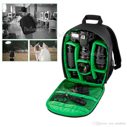 Wholesale Dslr Slr Waterproof - Waterproof Shockproof SLR DSLR Camera Bag Case Backpack For Canon Sony Nikon
