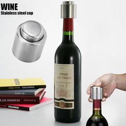 Wholesale Bar Pour Spouts - Free DHL Hot Sale Stainless Steel Vacuum Sealed Red Wine Bottle Spout Liquor Flow Stopper Pour Cap