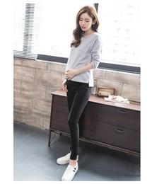 Wholesale Trouser Jeans For Pregnant Women - Elastic Waist 100% Cotton Maternity Jean Pants For Pregnancy Clothes For Pregnant Women Legging Autumn Winter Plus Size Trousers