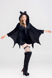 Wholesale Large Wings Costume - Custom Unique high quality large size Angel Devil Costumees Feather Wings stage performance COSPLAY props Free Shipping Vampire Sexy Women D