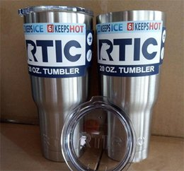 Wholesale Cup Cars - 20oz 30oz RTIC Tumbler Cups Car Cups Stainless Steel Sharp Mugs Cooler Bilayer Insulation Water Bottles Mugs