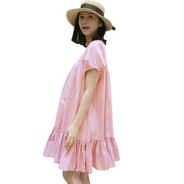 Wholesale Cute Pregnancy Clothing - New Pregnant Women In Summer Short Sleeve Maternity Dress Clothes For Pregnant Women Cute Pregnancy Clothes 2016