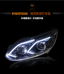Wholesale Daytime Running Led Ford Focus - Car Styling Headlights for Ford Focus 2012-2014 LED Headlight for Focus Head Lamp LED Daytime Running Light LED DRL Bi-Xenon HID