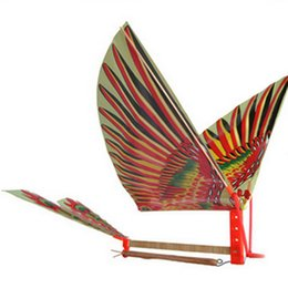 Wholesale Birds Models - Wholesale- Hot Creative Rubber Band Power Baby Kids Adults Handmade DIY Bionic Air Plane Ornithopter Birds Models Science Kite Toys Gifts