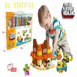 Wholesale Intelligence Box Toy - Intelligence Toys 6 Sides Plastic Blocks Component Assembly Plastic Bricks 16 piece in 1 Box
