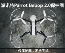 Wholesale Wholesale Quadcopter Propellers - Wholesale- Newest Propeller Prop Protective Guard Bumper Protector for Rc Drone Parrot Bebop 2.0 Quadcopter White Red Fast Shiping