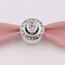 Deutschland Authentische 925 Sterling Silber Perlen Freundin Charme Charms Passt Europäische Pandora Style Schmuck Armbänder Halskette 792145CZ cheap sterling silver bracelet for girlfriend Versorgung