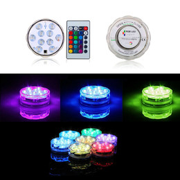 Wholesale Centerpiece Led Light Submersible - 10 LED Submersible LED Candle Tea Light Decoration battery operated Wedding Vase Waterproof Centerpiece Chirstmas