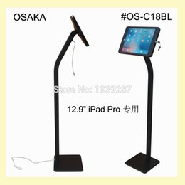 Wholesale Trade Store - Wholesale- for iPad Pro 12.9 inch display kiosk stand with charging cable secure standing trade fair shop store museum cinema theater