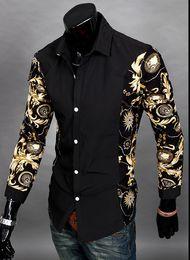 Wholesale Flannel Shirt Dresses - Jeansian Mens Fashion Cotton Designer Cross Line Slim Fit Dress man Shirts Tops Western Casual New M L XL XXL 3 color newest