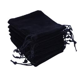 2019 sacchetto di juta nero Sacchetti regalo Sacchetti di caramelle 6x7 cm Con coulisse Bomboniera Sacchetto di gioielli economico Sacchetto di gioielli in velluto piccolo Sacchetti di gioielli regalo di Natale Pouche