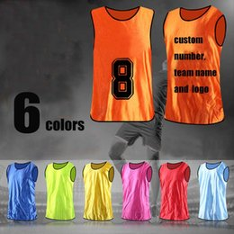 Wholesale Cotton Football Jerseys Wholesale - Survetement football 2017 summer kids soccer tracksuit against training vest sport solid color soccer jerseys football shirt