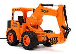 Wholesale Large Toy Excavator - The new large wire control electric remote control car toy truck excavator excavator model present environmental protection