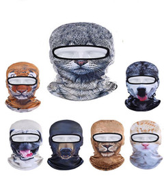 Wholesale Cute Bicycles - 2017 New Outdoor Sports Bicycle Cycling Motorcycle Cute 3D Cap Dog Leopard Animal Ski Hood Veil Balaclava UV Wind Full Face Mask