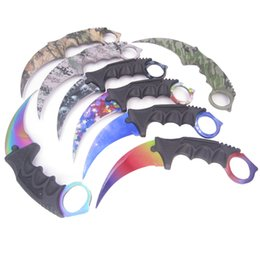 Wholesale CS GO Counter Strike Karambit Claw Knife game real hunt camp hike tactical fight survive csgo combat self defense