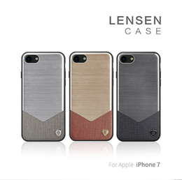 Wholesale Import Iphone Cases - Nillkin Lensen Case For iPhone 7 Coque High-End Imported Leather+Aluminium Alloy+TPU+PC Phone Cases For iPhone7 Housing