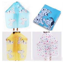 Wholesale Hairdressing Aprons Wholesale - Kids Haircutting Apron Cleaning Cloths 90*66cm Waterproof Cartoon Hairdressing Nylon Eco Friendly Cleaning Cloths for Bathroom