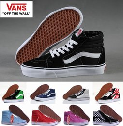 Wholesale Gold Toe Brands -  High Top Old Skool  Canvas Shoes Sk8 Hi Classic White Black Brand Women And Mens  Skateboarding Sneakers Casual Shoes