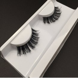 Wholesale Long Human Hair Eyelashes - False Eyelashes Manufacturers of large supply of foreign trade export sales beauty beautiful hair gray false eyelashes