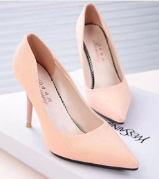 Wholesale Ms Pumps - The new Korean fashion trendy star models Ms. work shoes trend high heels lady Miss shoes size: 35-39 free shipping 1 pair
