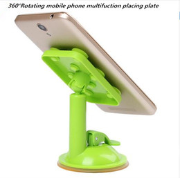 Wholesale Rotating Plate - Newest 360° Rotating mobile phone multifuction placing plate 6 color for iphone ipad samsung s8 with the Retail Box