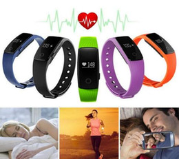 Wholesale Moniter Watch - ID107 Smart Watch Fitness Model Bluetooth 4.0 Healthy Bracelet Pedometer Calorie Burnning Sleeping Moniter Stopwatch Long Standby Wristband