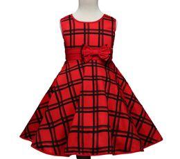 Wholesale Wholesale American Flannel - New arrival girl dress bowknot girl dress printed flower princess charming summer dress cute sleeveless gir