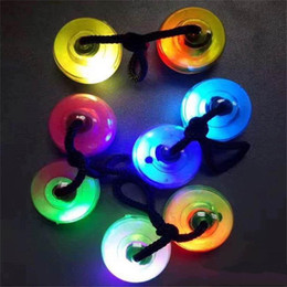 Wholesale Spinner Game - 2017 NEWEST LED finger balls Yo-yo Skill toy Thumb Chucks Fidget Toys Bundle Control Roll Game Glow in Dark Finger Spinner with retail box