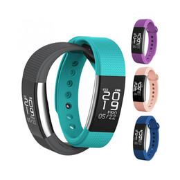 Kostenlose alarm app online-F1 Smart Fitness Armband App Benachrichtigung Anruf Alarm Gesundheit Tracker Herzfrequenz Schlaf Monitor Wasserdichte Smart Band Freies DHL