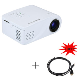 Wholesale Flip Usb - Wholesale-Excelvan X6 Mini Portable Projector 120Lumens Support 1080P Proyector With HDMI USB AV VGA SD Interface Flip Beamer HDMI Gift