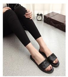 Wholesale Wholesale Soft Slide - Wholesale-New Arrival Women Shoes Flip Flops Summer Style Beach Sandals Women Sandals Mixed Color Slides Flat Heel Women Free Shipping
