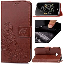 Wholesale Ray Leather Case - Flip Wallet Case For LG K5 K7 LS770 LS775 Spirit C40 Stylus RAY Card Slot Design Magnet Cover with Holder