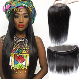 Wholesale 13x4 Body Wave Lace Frontal - Brazilian Indian Peruvian Malaysian Lace Frontal Closures Body wave Straight 13x4& 4*4 Free Middle 3 Part Full Lace Frontal