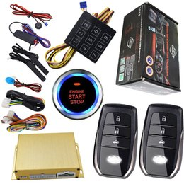 Wholesale Remote Car Start - keyless entry smart push button start engine alarm system car security working with cardot gps module