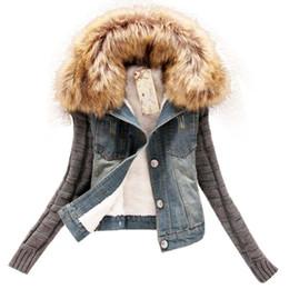 Wholesale Women Jean Jacket L - Wholesale- 2016 New Autumn Cowboy Coat Long Sleeved Thicken Slim Jaqueta Feminina Fashion Women Jean Jacket Denim Casaco Plus Size S-5XL