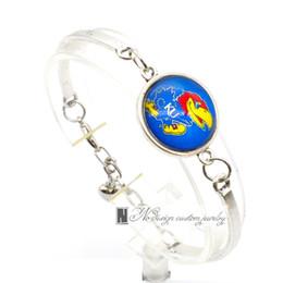 Wholesale Wholesale Basketball Jewelry - 2017 Fashion Bracelet&Bangle Kansas Jayhawks Basketball Team KU University Team Sport Charms Bracelet for Women Fan Jewelry SP008
