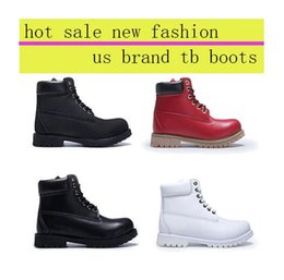 Wholesale Clear Red Rainboots - Waterproof yellow black snow boots vintage brand designers men women genuine leather high heel outdoor boots