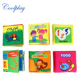 Wholesale Soft Cloth Books For Infants - 2017 Hot Intelligence Development Soft Cloth Fabric Cognize Quiet Book Educational Toy For Baby Infant Story Book