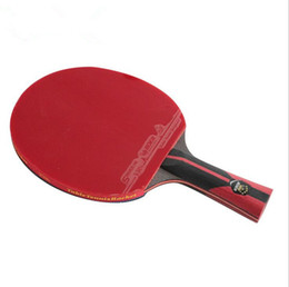 Wholesale Pong Stars - FL Long Handle 6 Stars TableTennis Racket Bats CS Short Handle Ping Pong Paddle Pimples In rubber Ping Pong Racket With Racket Bag