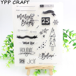 Wholesale Decorative Listing - Wholesale- YPP CRAFT Wish List Transparent Clear Silicone Stamp Seal for DIY scrapbooking photo album Decorative clear stamp sheets