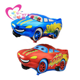 Wholesale Balloon Cars - 50pcs lot Red Car Balloons Foil Balloons Children Ballons Happy Birthday Decoration&Wedding Decoration Globos For Party Supplies