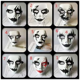 Wholesale Volto Masks Dance - 2017 New Fashion Cosplay Party Adult Full Face Grimace Mask Street Ghost Dance Dancer Masks Performance Hip-hop Masquerade Halloween Mask